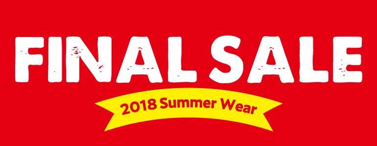 ファイナルセール 2018年春夏ウェアクリアランス