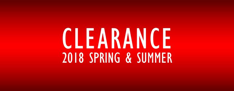 2018年春夏ウェアクリアランス