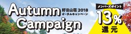 オータムキャンペーン13%